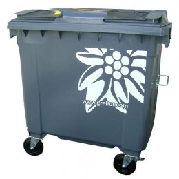 """Edelweiss"" decoration waste container"