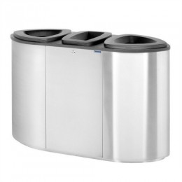 Dustbin with compartments